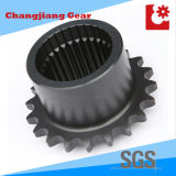 Industriële ketting Transmission RVS Sprocket met Spline Shaft