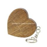 나무 USB Pendrive Thumbdrive 심혼 모양 USB 지팡이