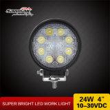Arbeits-Licht der runden Form-24watt 4 des Zoll-LED für nicht für den Straßenverkehr