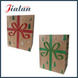 Modificar la bolsa de papel para requisitos particulares impresa insignia barata de Kraft de la promoción del regalo