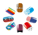 Fashion Colorful DIY Waterproof Nail Art Stickers Autocollants pour ongles