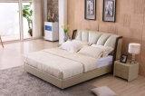 現代デザインフォーシャンのホーム家具の安い二重革柔らかいベッド