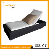 Piscine en plein air Chaise de plage réglable inclinable Rattan pour roue
