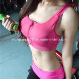 Double soulever le soutien-gorge fait sur commande de sport de dos de croix de vêtements de sport de forme physique