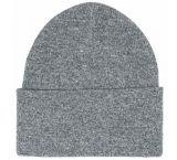 Chapeau rouge solide de Beanie de manchette de Knit de l'hiver