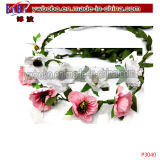 Flores Garland Flower Yiwu coroa de flores artificiais China (P4040)