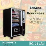 Distributeur automatique de gare avec les boissons et la nourriture