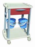 El color disponible con un cajón y dos compartimientos utilizaron los carros de la medicación (AG-CT001B3)