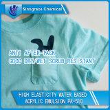 Emulsión de acrílico a base de agua lavable para la capa de la materia textil