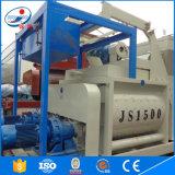 Mezclador concreto avanzado de la fuente Js1500 de la fábrica del Gemelo-Eje del diseño