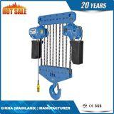 élévateur à chaînes électrique de renvoi à deux vitesses de trois chaînes 3t avec le chariot électrique