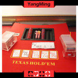 Bandeja plástica negra dedicada vector Ym-CT06 de la viruta del vector del flotador de la viruta de póker del póker de Tejas Holdem