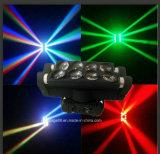 8*10W LED CREE RGBW Spiderbeam moviendo la cabeza de la luz de la etapa