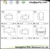 Protuberancia de aluminio/opinión seccionada transversalmente de los perfiles para la luz de la colada de la pared y la luz del LED