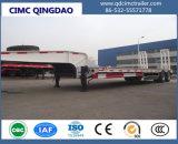 Cimc中国の製造者のトラックシャーシからの3つの車軸が付いているトラックのLowbedの頑丈な半トレーラー