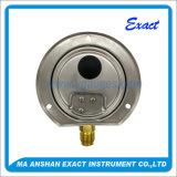 Calibre de pressão com o calibre de pressão da montagem do Flange-Painel