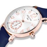 2016 Form-grosser Vorwahlknopf-wasserdichter Quarz-beiläufige Frauen Uhr, Saphir-Edelstahl-spezielles Liebes-Geschenk für Mädchen-Dame