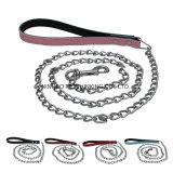 Condução de alça de couro Cadeia Pet Lead, Leash Chain