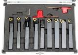Reeks van het Hulpmiddel van het Carbide van de Grootte van de Duim van Cutoutil de Vastgestelde Nieuwe 9PC Indexable Draaiende