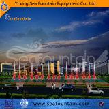 Fontana esterna del raggruppamento di musica con le lampade cambianti di colore