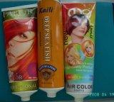 歯磨きのチューブ、装飾的な管、手のクリーム色の管、表面洗浄管