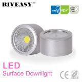 iluminación de plata montada superficie de Downlight LED de la MAZORCA de 5W LED