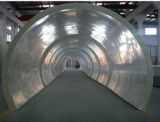 Длинний акриловый тоннель в аквариуме с прозрачной акриловой панелью