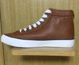 2016新式の加硫させたゴム製Outsoleはキャンバスの方法靴をひもで締める