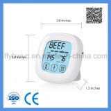 Термометр мяса цифров для варить печь BBQ кухни с отметчиком времени