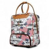 トロリー旅行袋PUの革スーツケースの漫画の荷物袋ビジネス