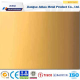 El amarillo titanio, acero inoxidable 304 hoja decorativa