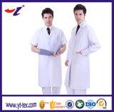 Couche blanche de laboratoire d'uniformes de personnel hospitalier d'approvisionnement d'usine