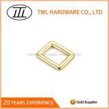 Inarcamento quadrato in lega di zinco dell'anello dell'anello di rettangolo del metallo dell'oro per il sacchetto