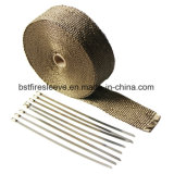 チタニウムの玄武岩の鋼鉄タイが付いている陶磁器の排気の熱の覆い