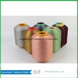 O fio DTY do filamento do poliéster, narcótico tingiu o fio de poliéster DTY, na matéria têxtil Home para o tapete