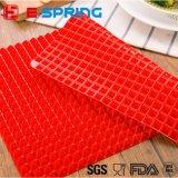 Plaque de cuisson au silicone Assiette de couleur rouge Piza Mat