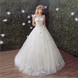 Graceful Lace Flower Princess Ball Gown Robe de mariée (Dream-100071)