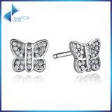 단순한 설계 Stampled 925 순은 나비 귀걸이