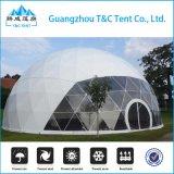 Poliestireno de cristal de la casa de la bóveda de la estructura de aluminio al aire libre/tienda geodésica del arco