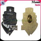 Pulsera de cobre amarillo de encargo de la solapa de la policía de la oficina de la forma de la estrella de Sun de la fábrica