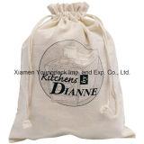 Fördernder kundenspezifischer 100% natürlicher organischer Baumwolldrawstring-Sack-Beutel