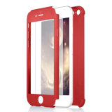 voor iPhone 7 Geval Beschermende Gevallen van de Luxe van de Rugdekking van het Ontwerp van het Lichaam van 360 Graden de Volledige Hybride voor iPhone 7 Geval met het Glas van het Scherm