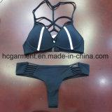 Biquini branco do Beachwear da cor contínua para o homem das mulheres/menina, desgaste nadador