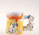 Милая покрашенный вручную керамическая чашка животного чашки 3D