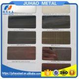 Hoja de cobre amarillo decorativa grabada del color de la pared del acero inoxidable
