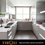 最もよい台所製造業者Tivo-0198hからの黒い/Whiteの木製の食器棚