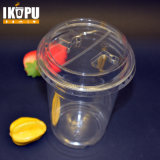 Zoll gedrucktes transparentes Wegwerfhaustier-Plastikcup mit Kappe