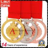 カスタム金の銀および銅賞のスポーツの金属メダル