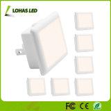 indicatore luminoso di notte della spina LED di 0.3W 110V 120V 220-240V con crepuscolo automatico da albeggiare sensore chiaro