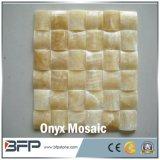 住宅建設の物質的な壁のためのベージュ大理石のモザイク、オニックスおよび床タイル